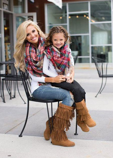 Mommy and Me matching Scarf and Boots