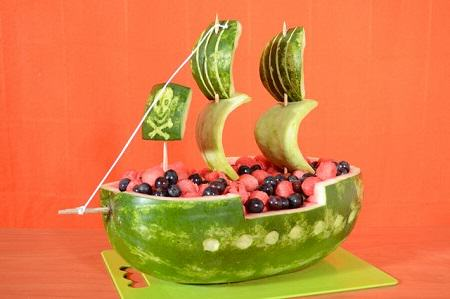 Pirate Ship Watermelon Carving Tutorial