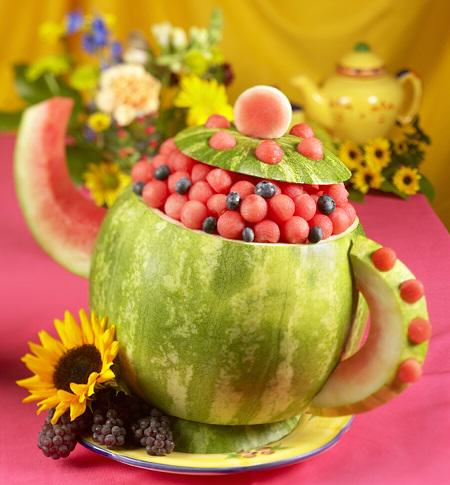Tea Pot Watermelon Centerpiece