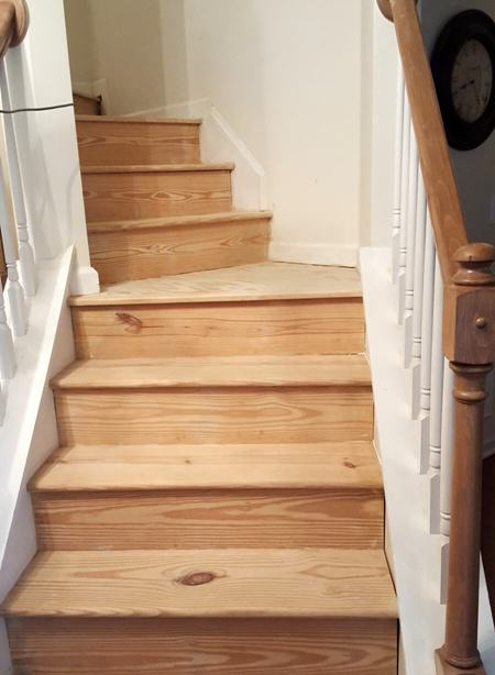 Stairs After Sanding