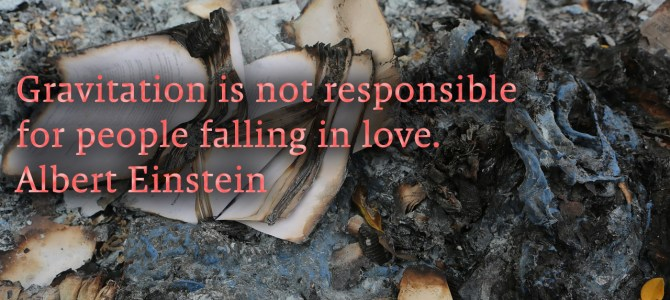 Gravity isn't responsible for people falling in love