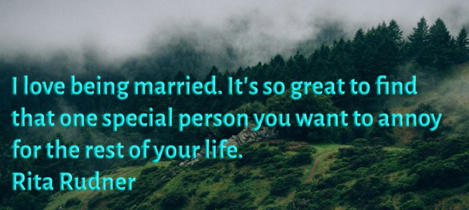 Is great to find that one special person, that's why i love being married