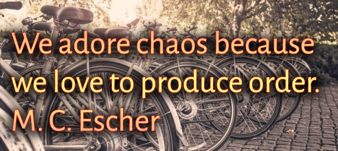We love to produce order and that's why we adore chaos