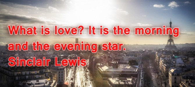 Love is the morning and the evening star