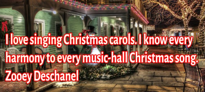 I know every harmony to every music-hall Christmas song