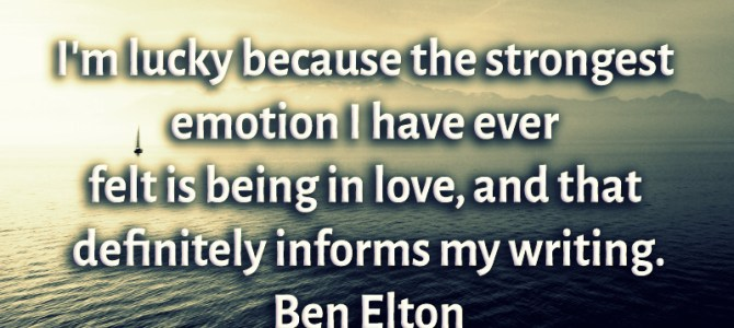The strongest emotion I have every felt is being in love
