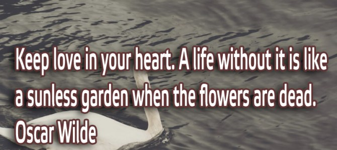 A life without love in your heart is like a sunless garden