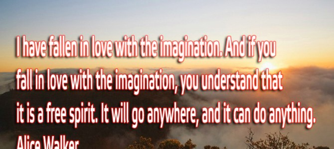 I have fallen in love with the imagination