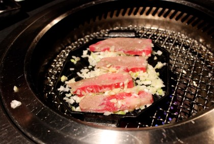 Grilled Matsusaka Medium Toro Kalbi Short Rib With Scallion and Salt