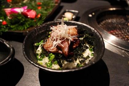 Rice with Kalbi and wasabi sauce