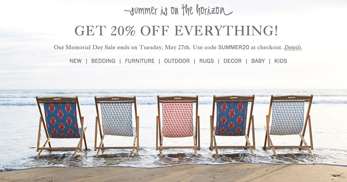 SALE ALERT Serena And Lily Is Offering 20 Off Until May