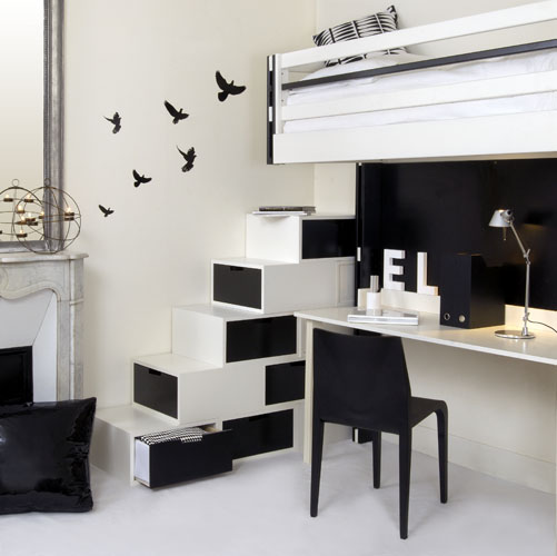 STYLISH HOME  Black and white interiors     practical furniture for black and white interior design