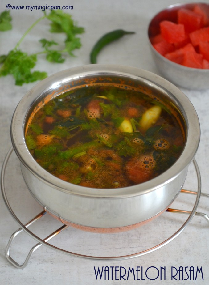 Watermelon Rasam My Magic Pan