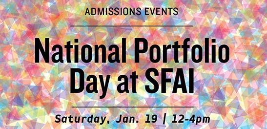 SFAI Part of National Portfolio Days Jan. 19