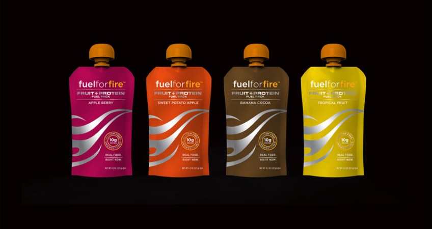 Brand identity and packaging for new paleo brand FuelforFire.