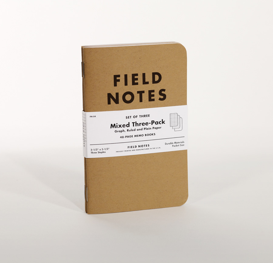 A pack of Field Notes