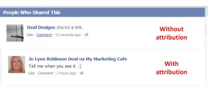 Facebook attribution 2
