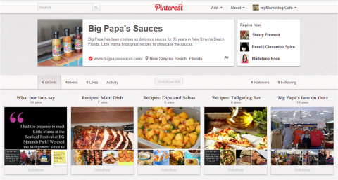 Big Papas Pinterest Page