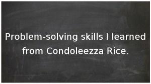 Leadership lessons from Condoleezza Rice