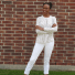 anne taylor blouse and marshall's white pants