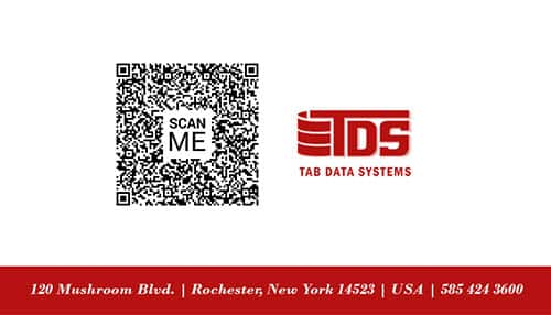 Tab Business Card Template Red Data Back_2