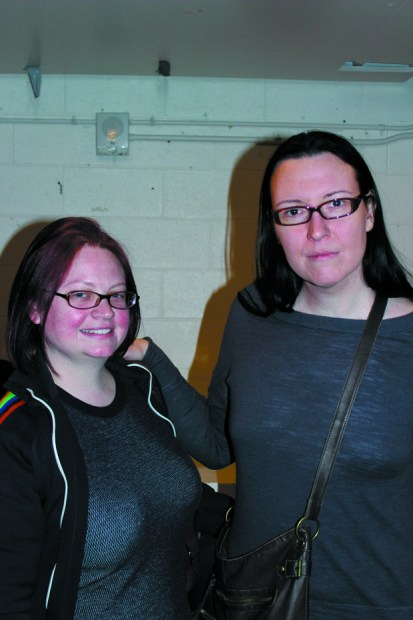 Rachel Quy, (right), an MSU Denver student, and her friend Stephanie Sharky attended MSU Denver's Transgender Day of Visibility, to show their support for the transgender community. Photo by Katie Avery