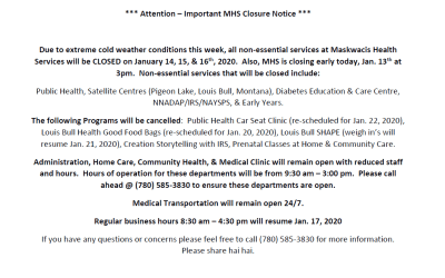 MHS Office Closure