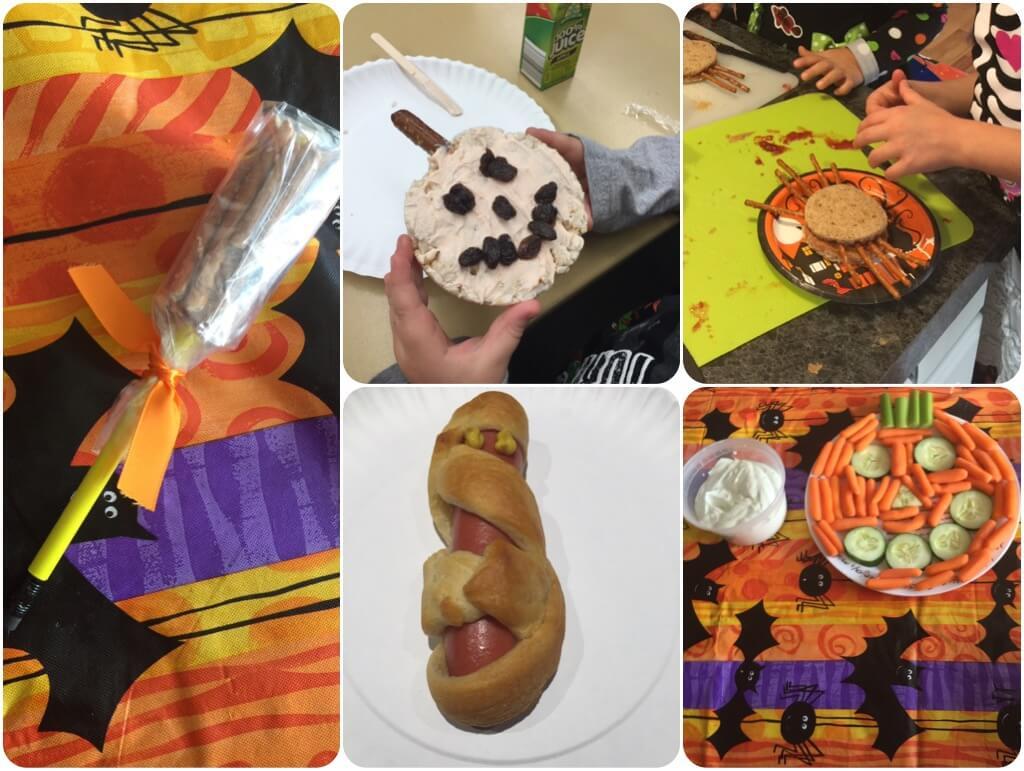 Halloween themed snacks