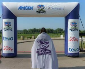 Miles for Migraine blanket
