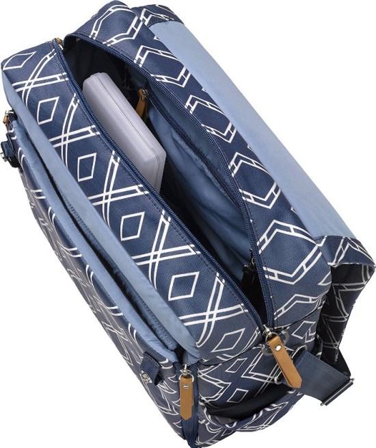 Petunia Pickle Backpack Diaper Bag Inside
