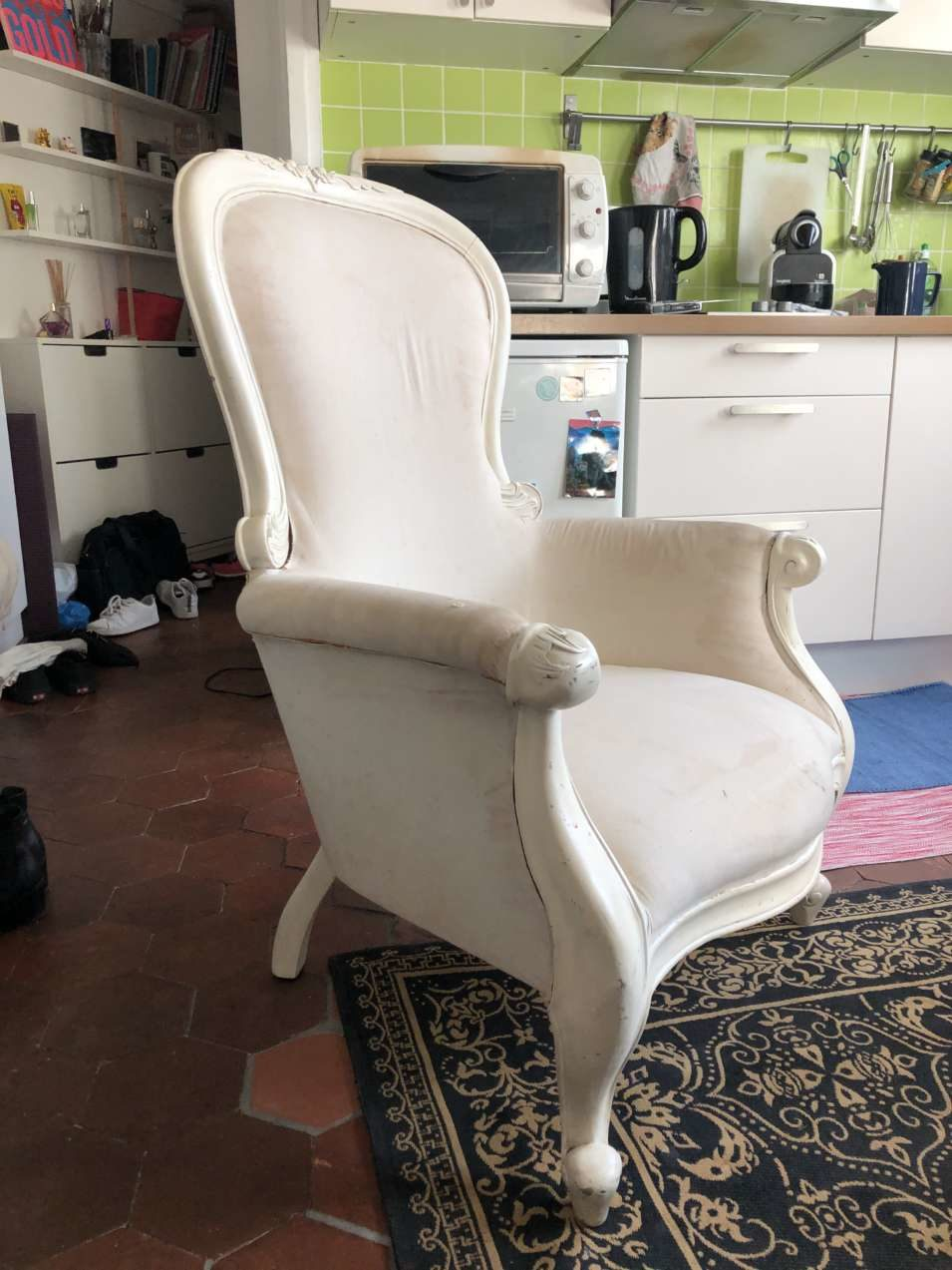 grand fauteuil louis philippe bergere a renover occasion