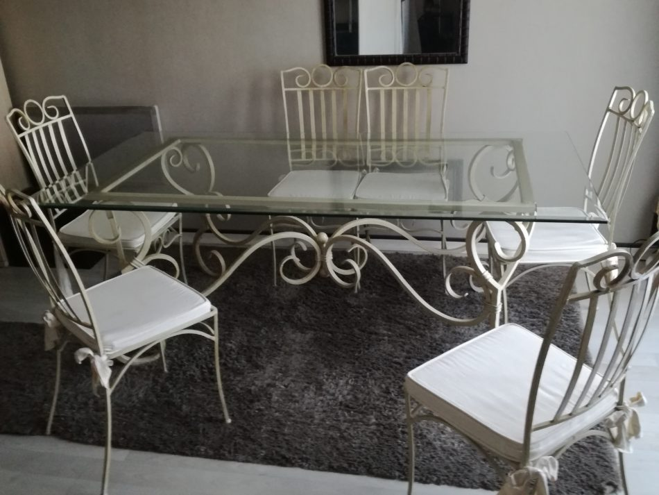 table fer forge 6 chaises occasion