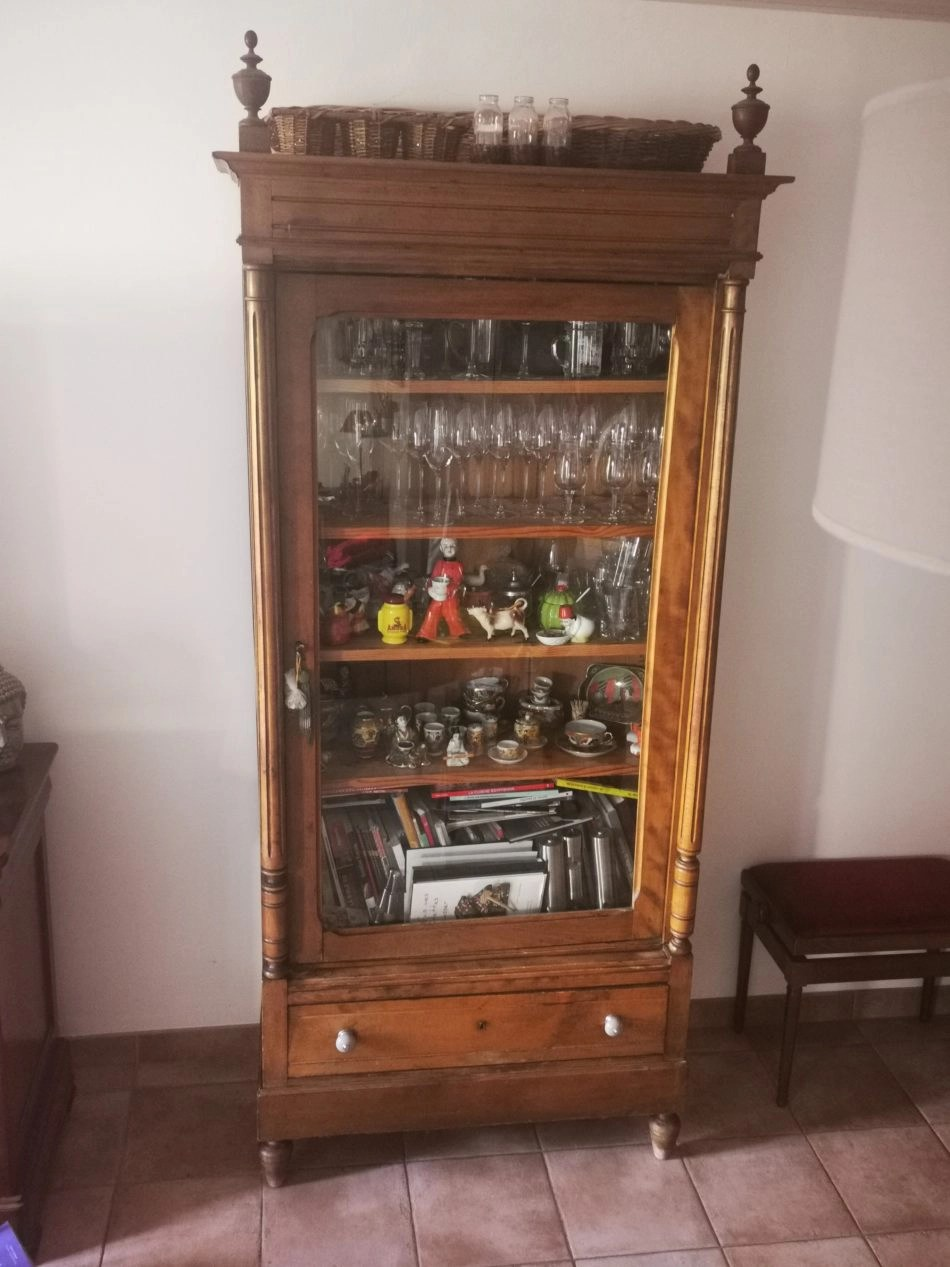 armoire bibliotheque vitrine ancienne occasion