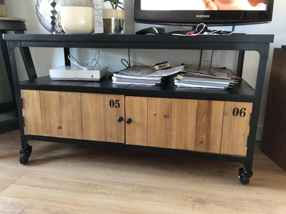 meuble tv style industriel occasion
