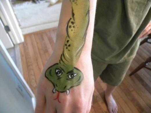 Snake Face Paint Design