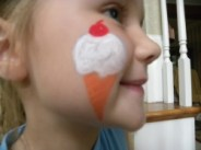 small face painting designs cheek