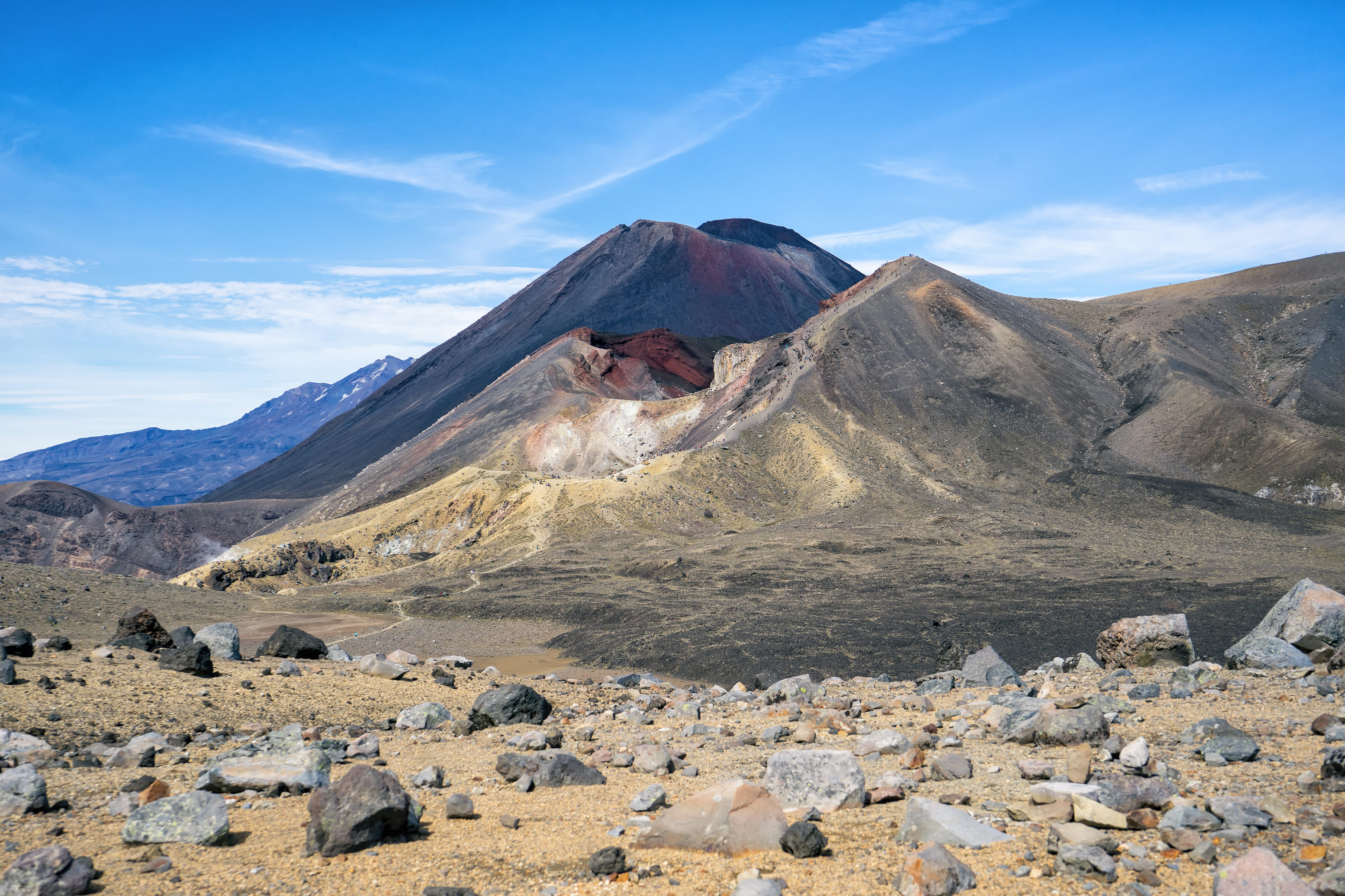 Tongariro Alpine Crossing Red Crater And Mt Ngauruhoe View