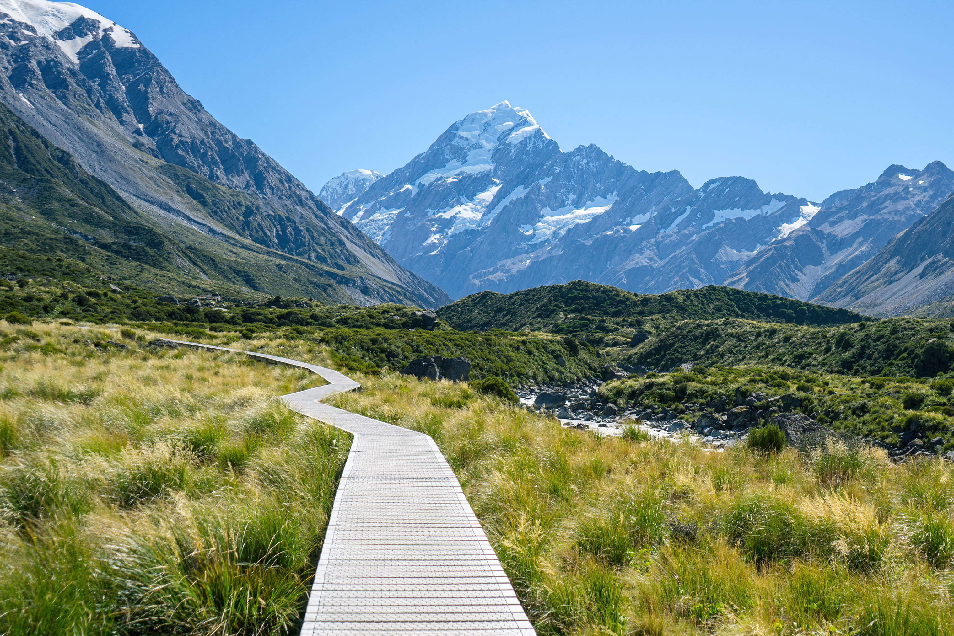 Aoraki Mt Cook Hooker Valley Track Walkway