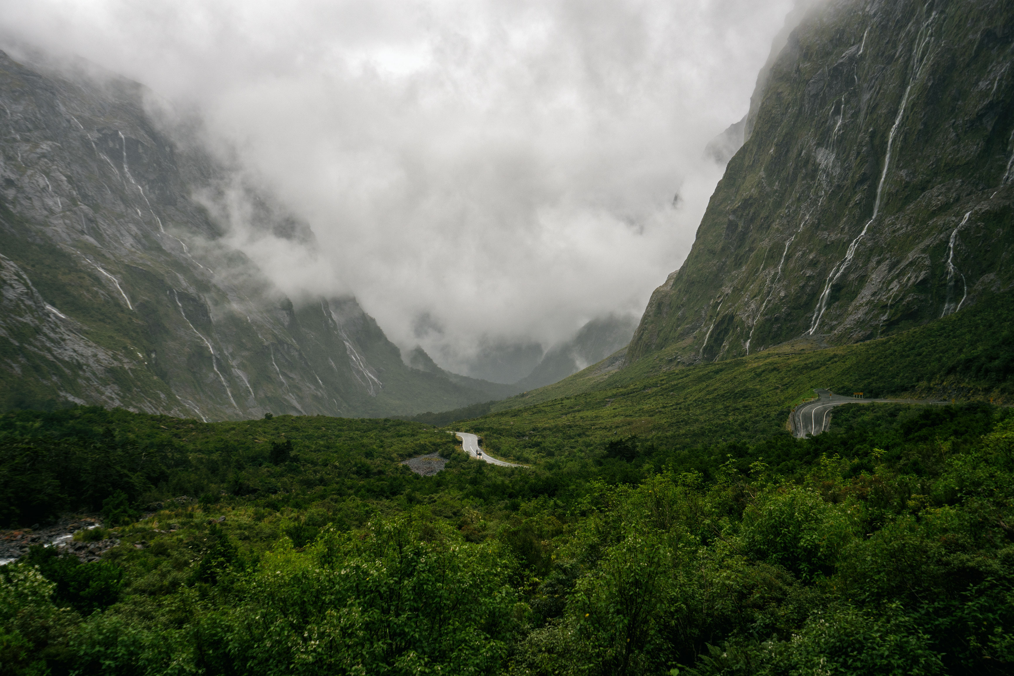 Fiordland Road To Milford Sound View