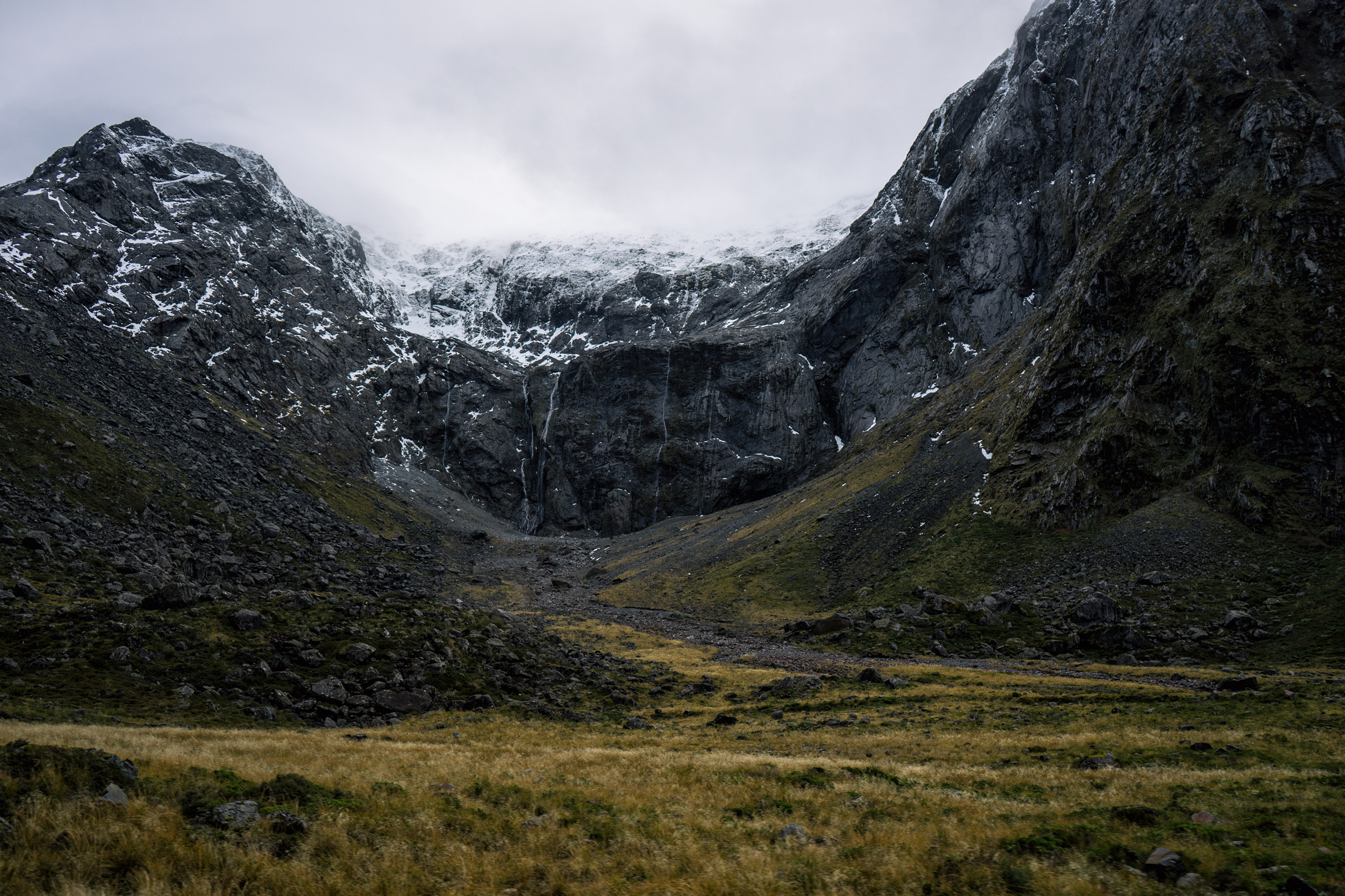 The Road To Milford Sound In Winter