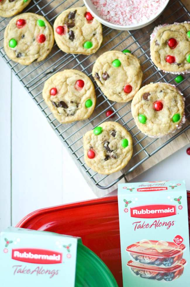 Peppermint Chocolate Chip Cookie Sandwiches