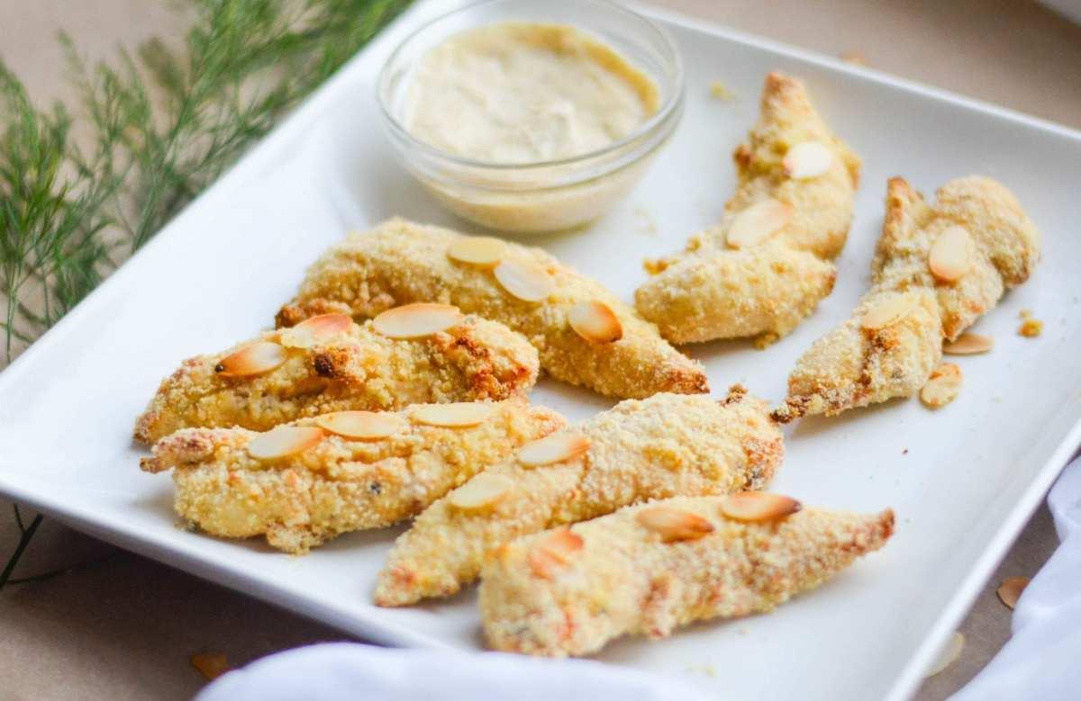 Almond Dijon Baked Chicken Fingers