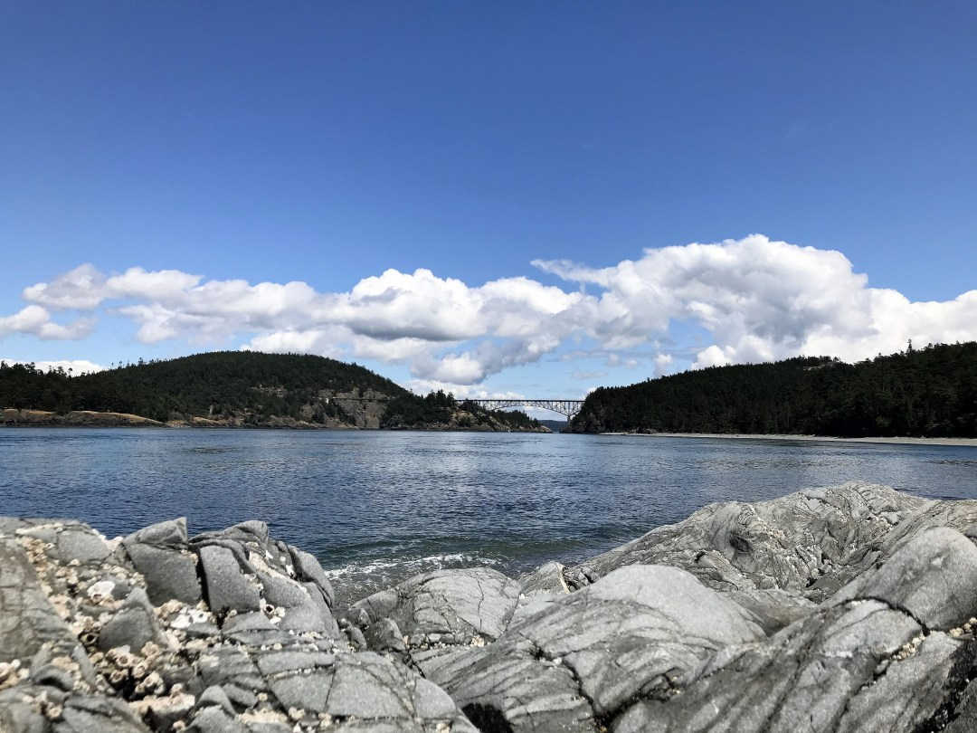 North Beach, looking South towards Deception Pass Bridge