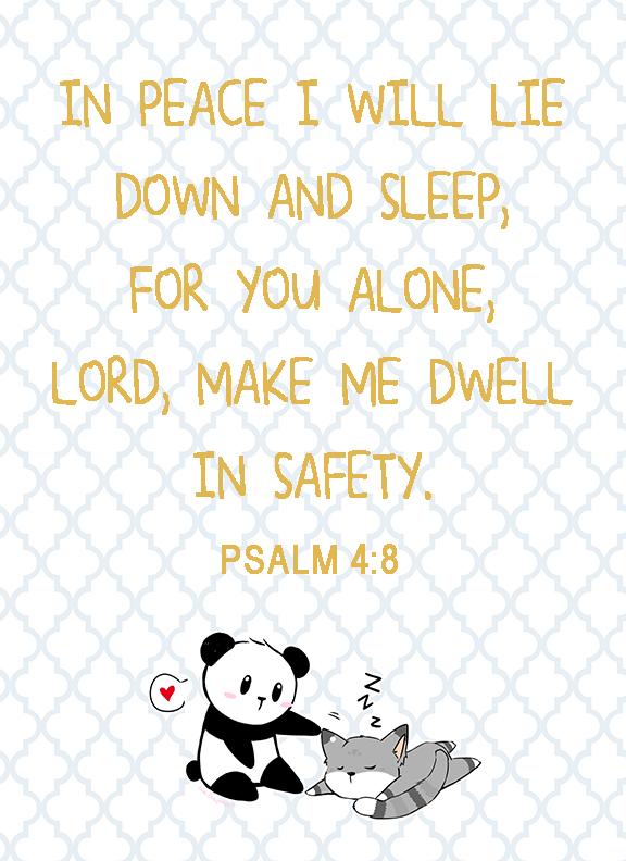 In peace I sleep Psalm 4 8