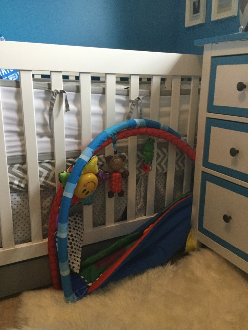 Nursery Crib and Rug