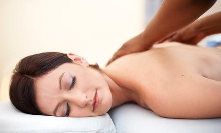 Mom getting a massage