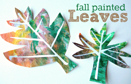 Fall Painted Leaves craft