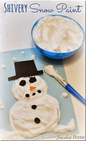 Silvery Snow Paint craft