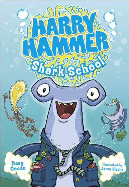 """Shark Books for Kids """"Harry Hammer Shark School"""""""