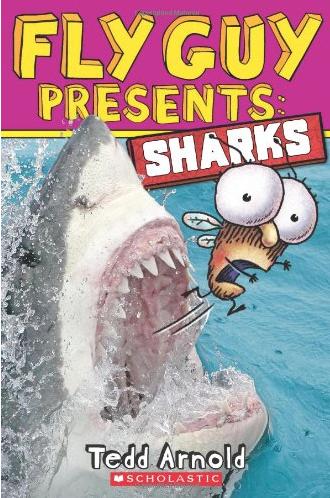 """Shark Books for Kids """"Fly Guy Presents Sharks"""""""